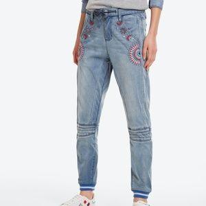 Desigual Apolo Embellished Jeans